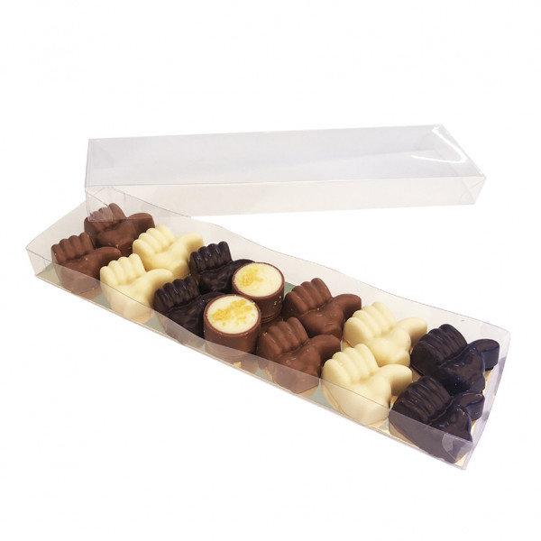 12 duim chocolaatjes en 1 bonbon