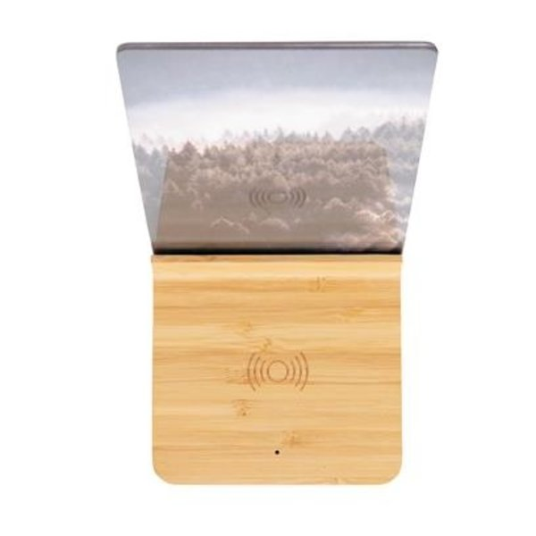 Bamboe draadloze oplader