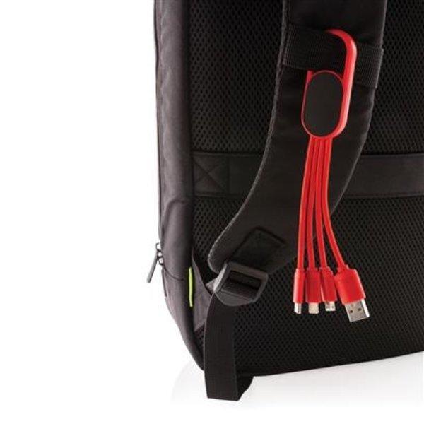 4- in -1 kabel met karabijnhaak