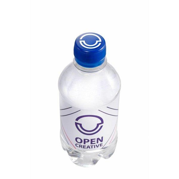 Bedrukking op dop 330 ml bronwater