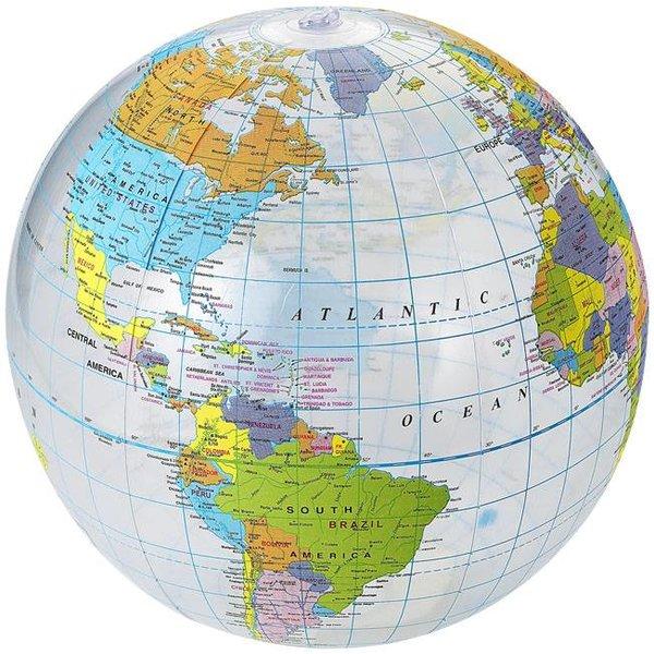 Globe strandbal, transparant