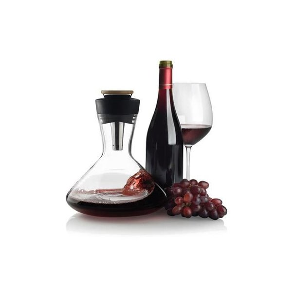 Aerato wijnkaraf, zwart