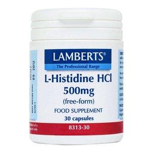 Lamberts L-Histidine HCl 500 mg 30 capsules
