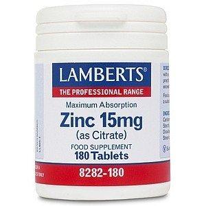 Lamberts Zinc Citrate 15 mg 180 tabletten