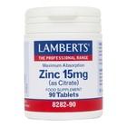 Lamberts Zinc 15mg 90 tab