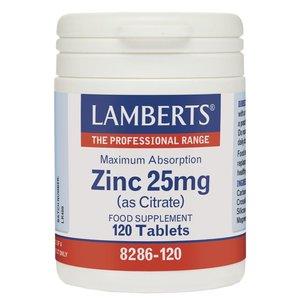 Lamberts Zinc Citrate 25 mg 120 tabletten