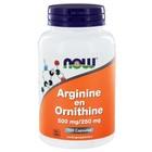 NOW Arginine en Ornithine 100 cap