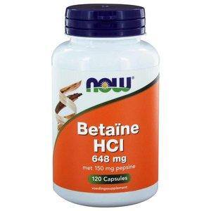 NOW Betaïne HCl 648 mg 120 capsules