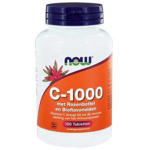 NOW C-1000 met Rozenbottel en Bioflavonoïden 100 tabletten
