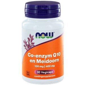 NOW Co-enzym Q10 100 mg en Meidoorn 30 capsules