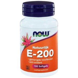 NOW Natuurlijk E-200 100 softgels