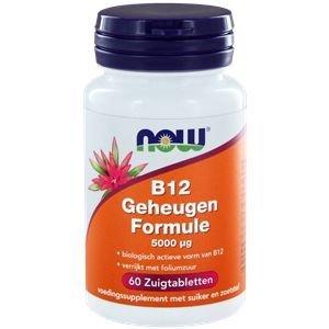 NOW Vitamine B12 5000 mcg60 zuigtabletten
