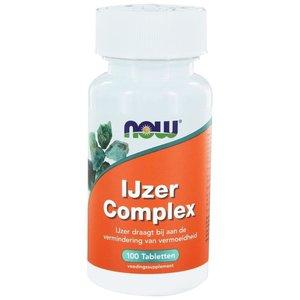 NOW IJzercomplex 100 tabletten