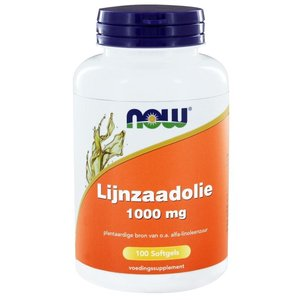 NOW Lijnzaadolie / Flaxoil 1000 mg 100 softgels
