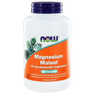 NOW Magnesium Malaat 1000 mg 180 tabletten