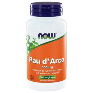 NOW Pau d arco 500 mg 100 capsules