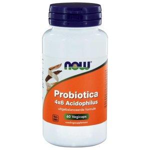 NOW Probiotica 4x6 Acidophilus 60 capsules