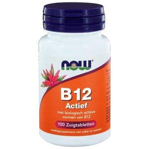 NOW Vitamine B-12 actief 100 zuigtabletten