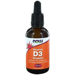 NOW Vitamine D3 200 ie druppels 60 ml