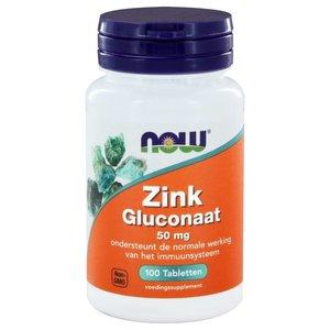 NOW Zink gluconaat 50 mg 100 tabletten