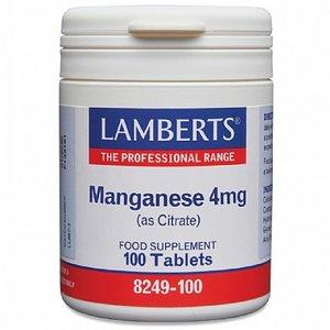 Lamberts Manganese / Mangaan 4 mg 100 tabletten