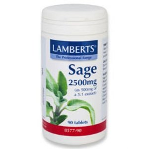 Lamberts Salie / Sage 2500 mg 90 tabletten
