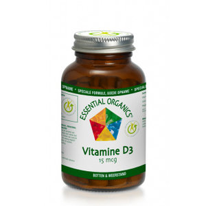 Essential Organics Vitamine D3 15 mcg 90 tabletten