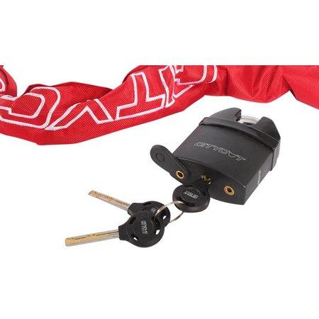 Starry CityCat kettingslot + schijfremslot 120 cm rood met ART 3 keurmerk