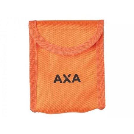 AXA Prodisc ART 4 schijfremslot oranje met reminderkabel en tas