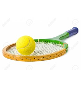 Tennisschläger und Ball