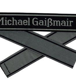 WWII Elite Ärmelband ''Michael Gaißmair'' gewebt WH Cuff title
