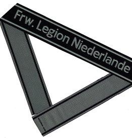 WWII Elite Ärmelband ''Frw. Legion Niederlande'' gewebt WH Cuff title