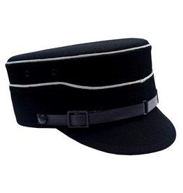 WW2 schwarz Schaftkappe Schirmmütze Schaftmütze