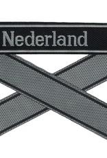 WWII Elite Ärmelband ''Nederland'' gewebt WH Cuff title