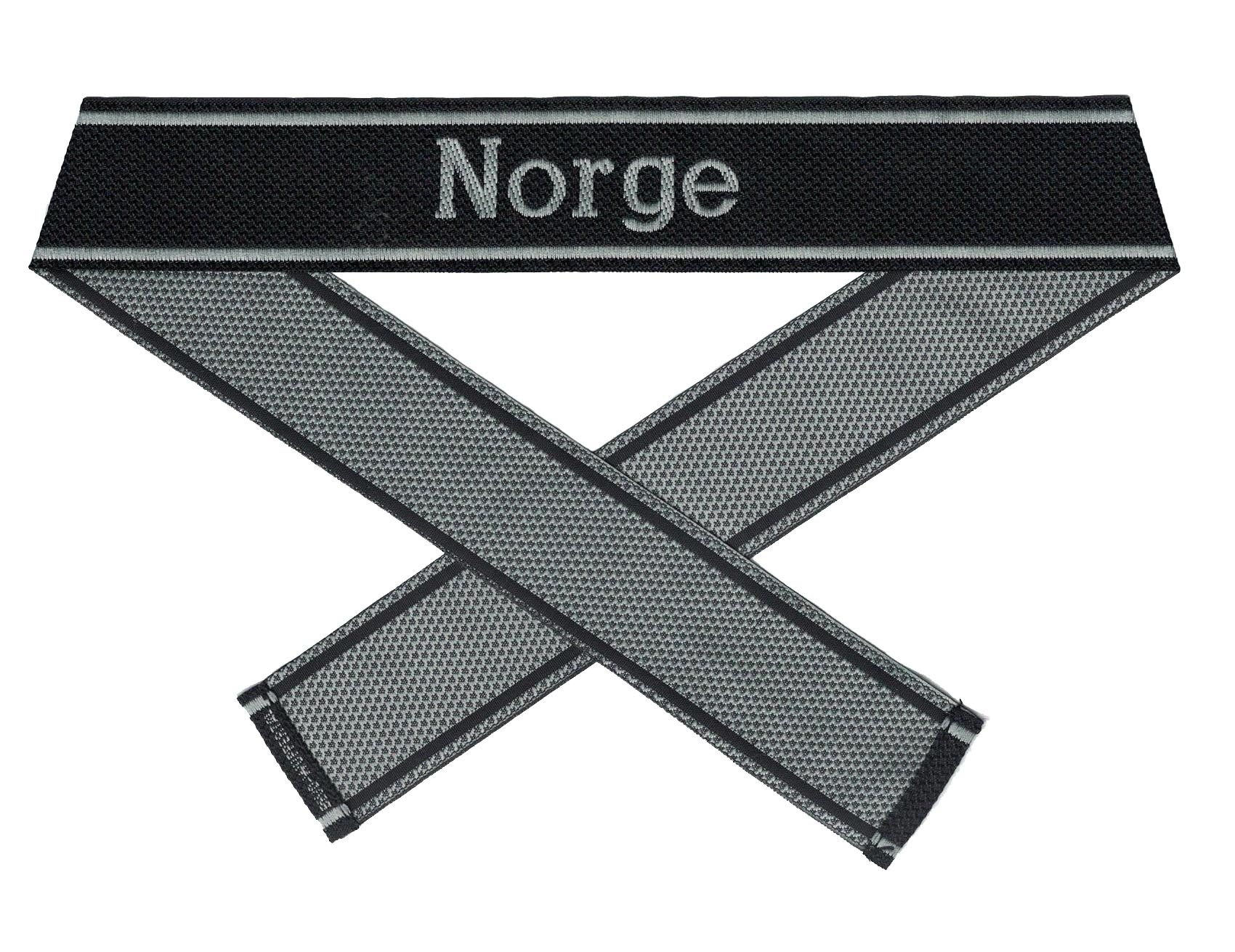 WWII Elite Ärmelband ''Norge'' gewebt WH Cuff title