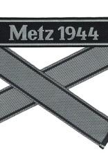 WWII Elite Ärmelband ''Metz 1944'' gewebt WH Cuff title