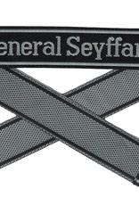 WWII Elite Ärmelband ''General Seyffardt'' gewebt WH Cuff title