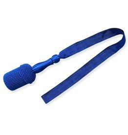 Vereinsbedarf Bhutta blau Portepee mit blau Tresse (grosse Ausführung)