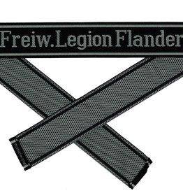 WWII Elite Ärmelband ''Freiw. Legion Flandern'' gewebt WH Cuff title