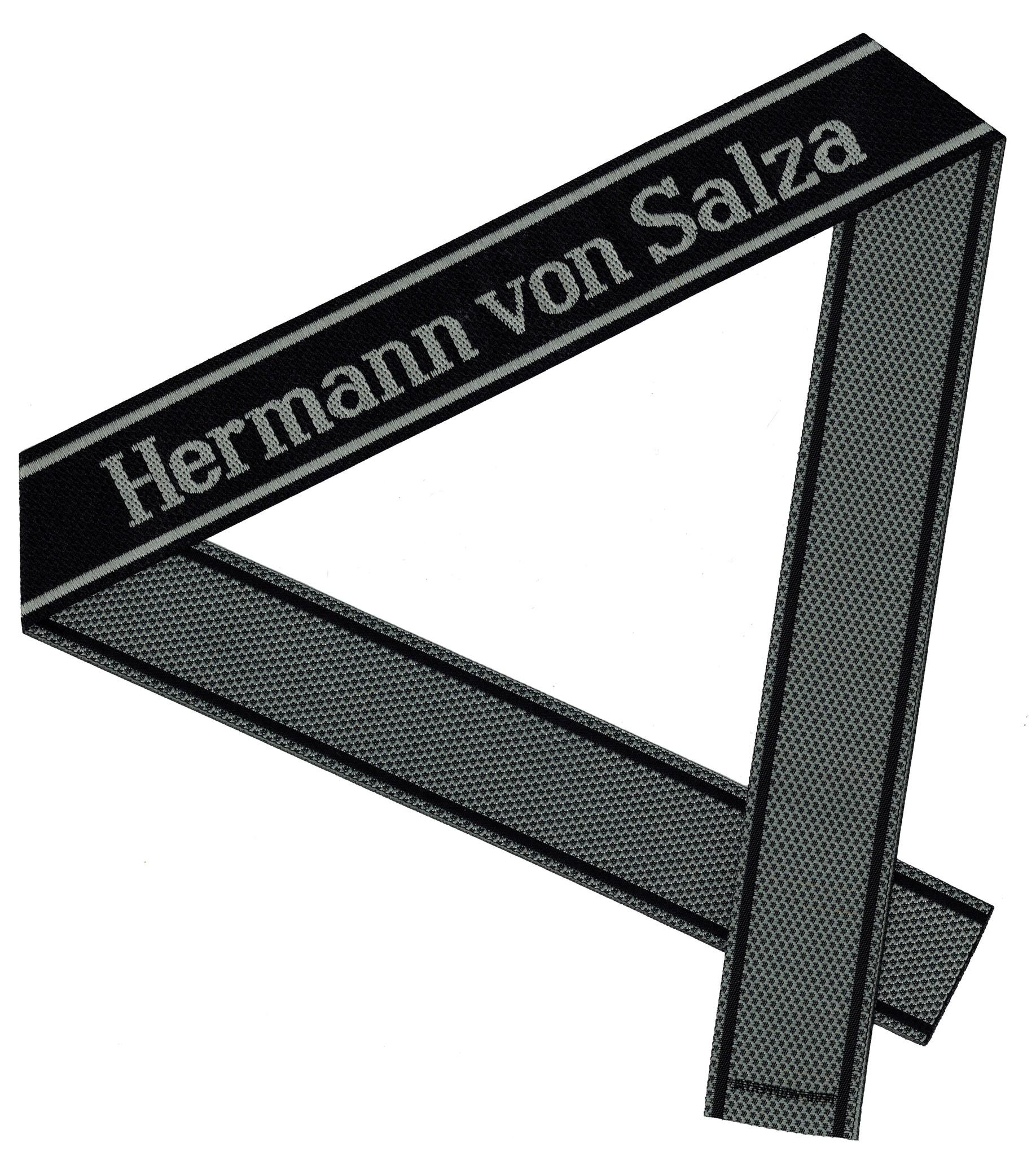 WWII Elite Ärmelband ''Hermann von Salza'' gewebt WH Cuff title