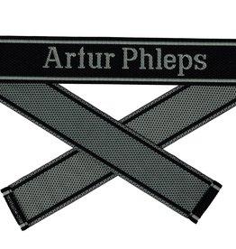 WWII Elite Ärmelband ''Artur Phleps'' gewebt WH Cuff title