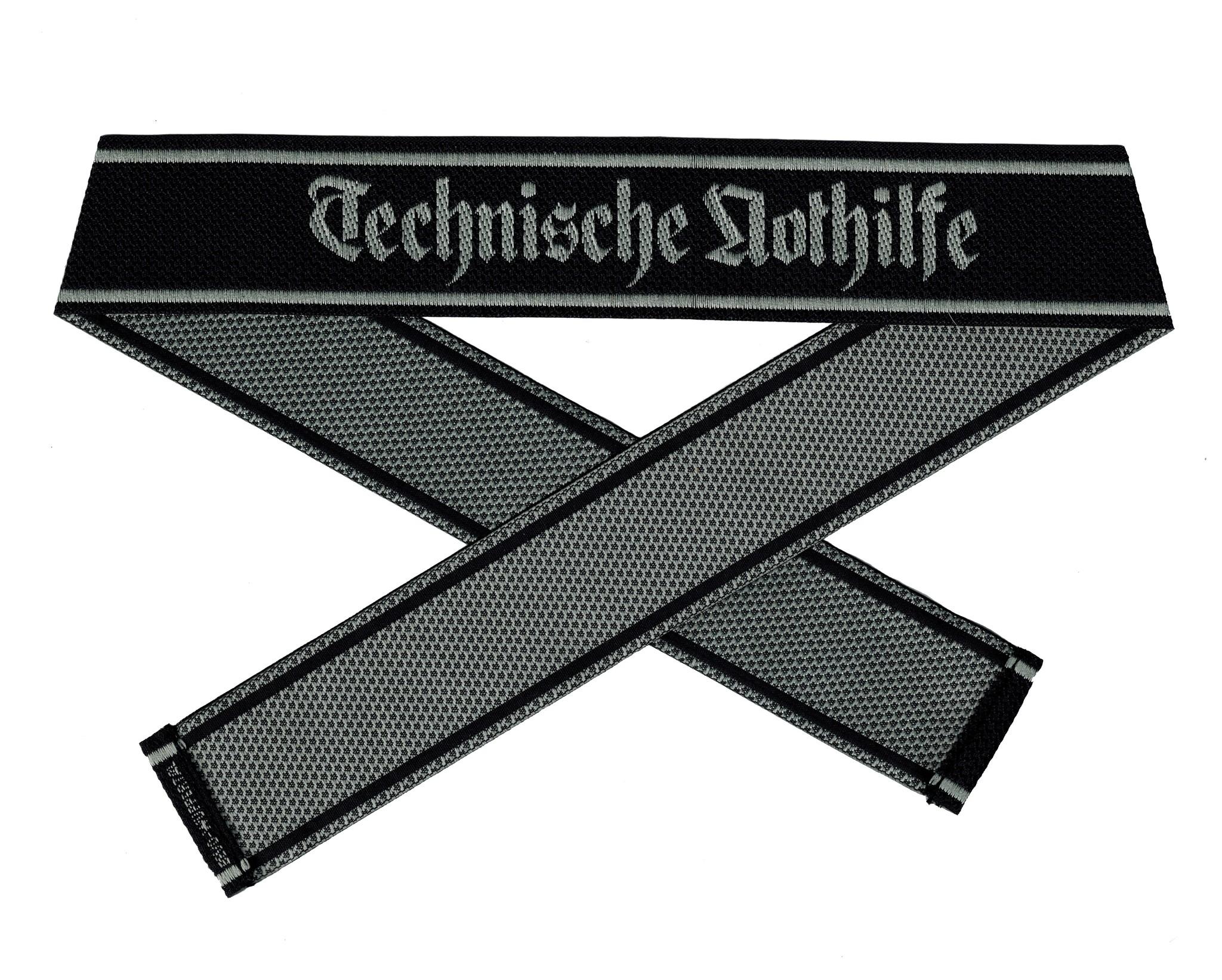 WWII Elite Ärmelband ''Technische Nothilfe'' gewebt WH Cuff title