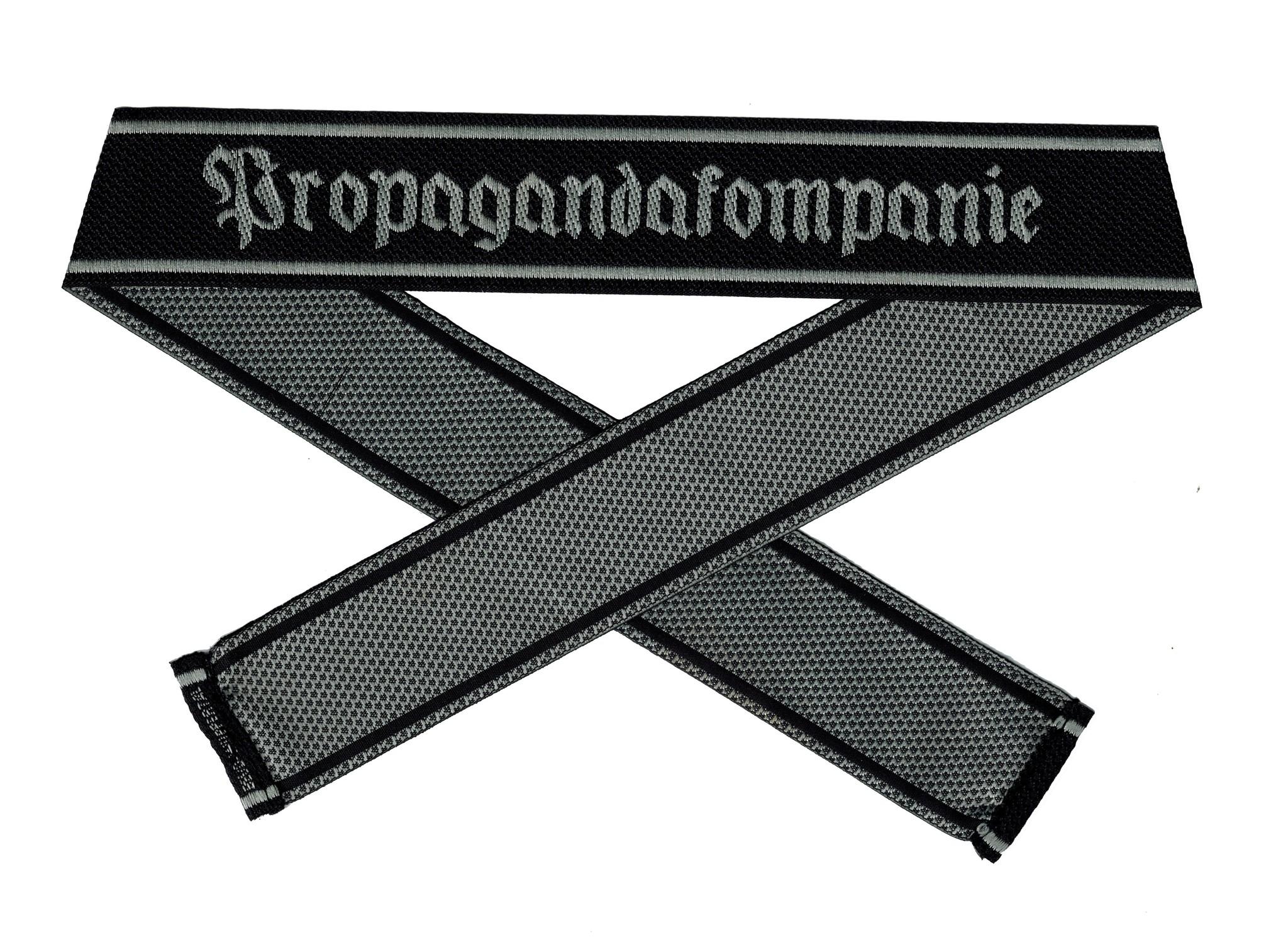 WWII Elite Ärmelband ''Propagandakompanie'' gewebt WH Cuff title