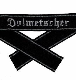 WWII Elite Ärmelband ''Dolmetscher'' maschinengestickte WH Cuff title