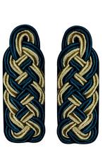 Schultergeflechte - Majorsgeflecht gold/grün (Flachschnur)