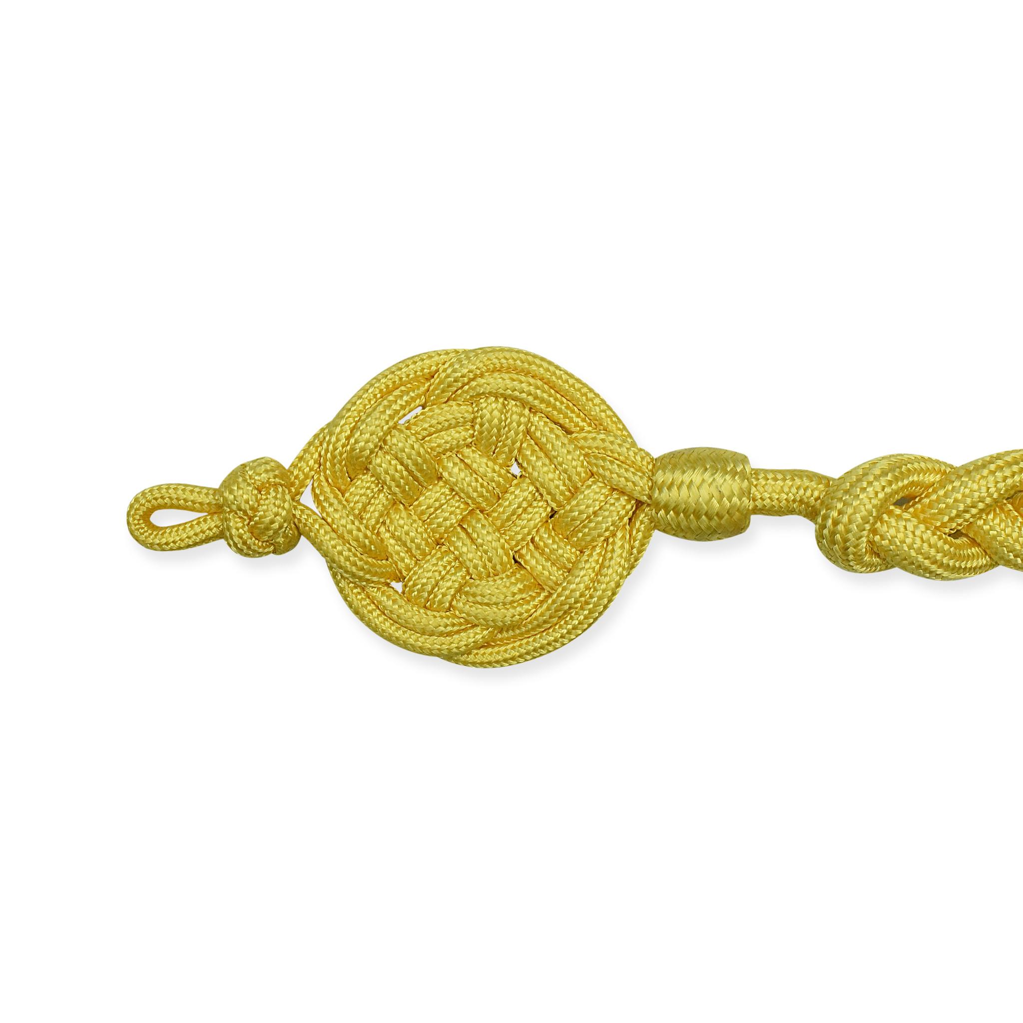 Schießschnur gelb Schützenschnur - 50cm