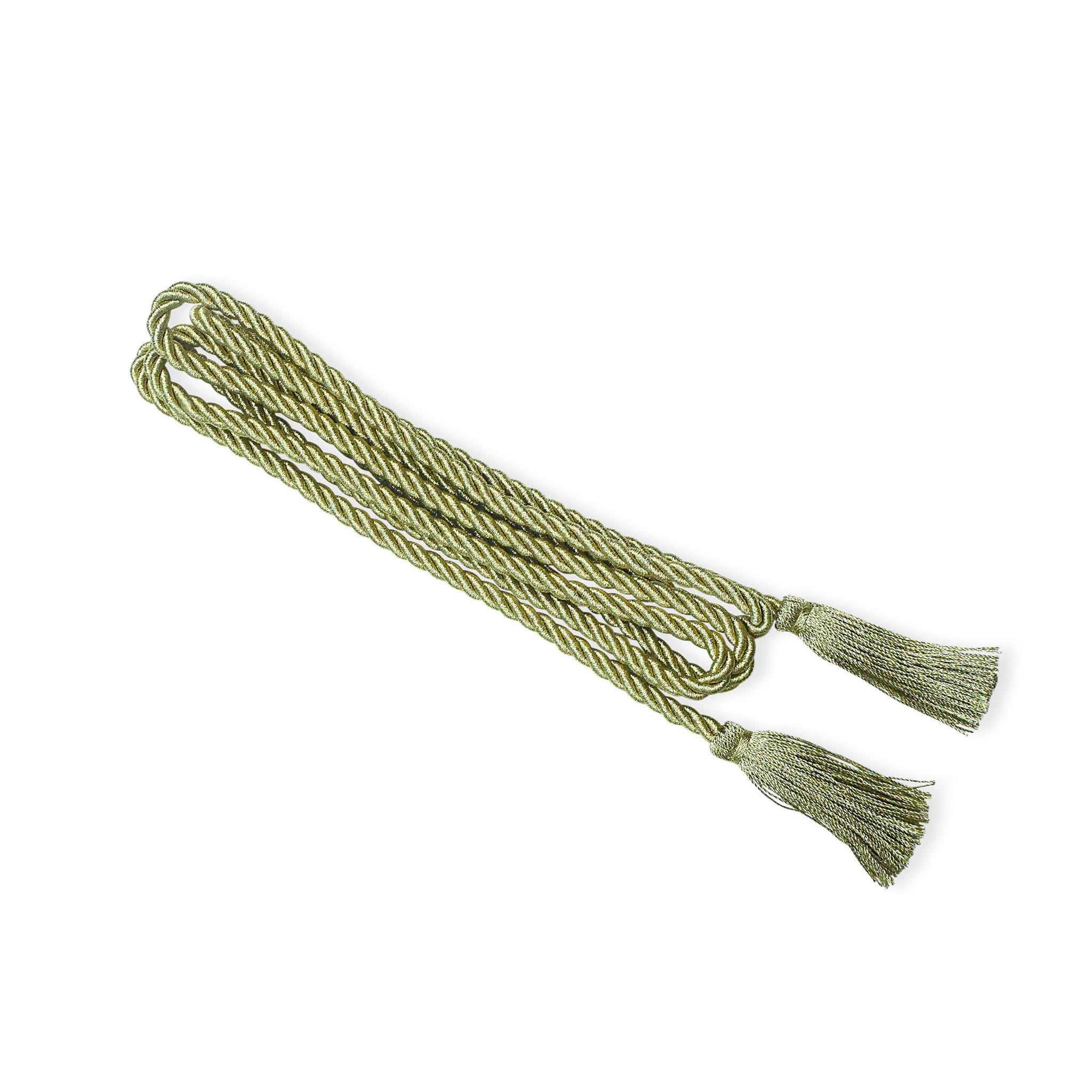 Hutschnur mit Gespinsfransen, verschiedene Farben (grün,  gold oder silber)