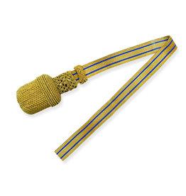 Gold Portepee mit blau Gestreifer gold Tresse (grosse Ausführung)