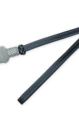 Vereinsbedarf Bhutta Portepee silber mit schwarzem Lederriemen (kleine Ausführung)