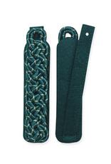 Schultergeflecht, 8-bogig, grün mit silber oder gold National